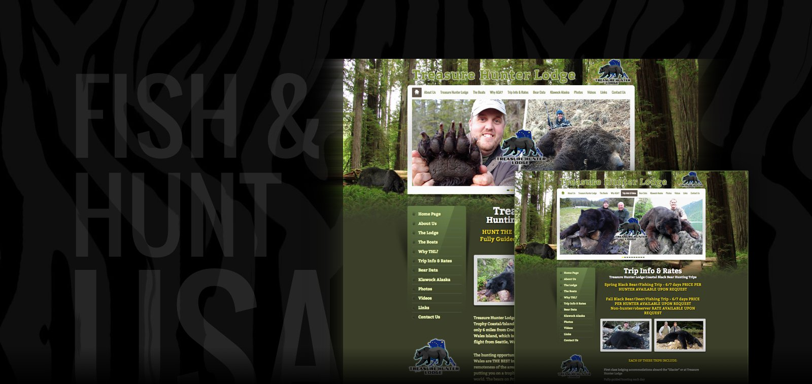 Outdoors Website Design for Hunting and Fishing Outfitters